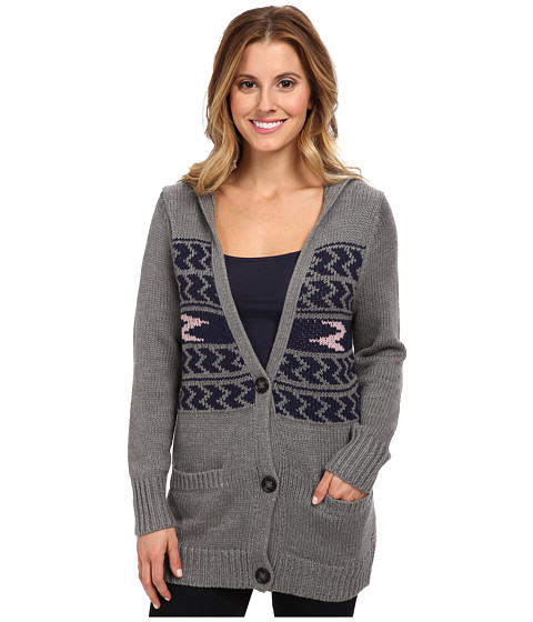 Roxy - Shadow Diamonds Sweater (Intarsia Peacoat Pattern) Women's Sweater