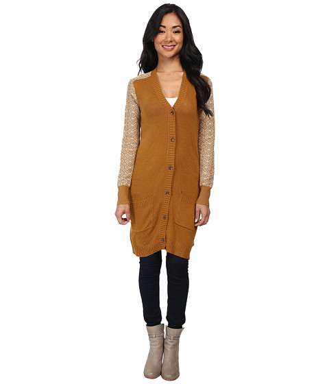 Roxy - Cozy Cabin Sweater (Golden Brown Heather) Women