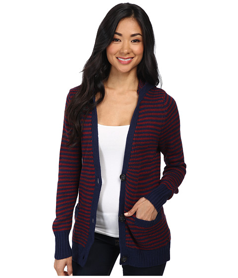 Roxy - Shadow Diamonds Sweater (Burning Peacoat Stripe) Women's Sweater