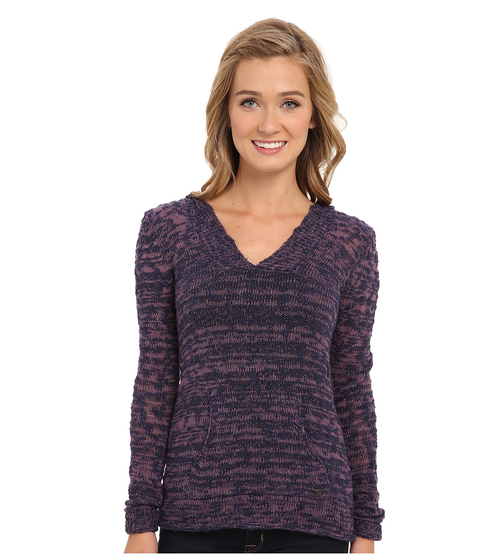 Roxy - Warm Heart Sweater (Peacoat Marl Pattern) Women