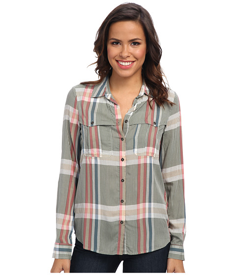Mavi Jeans - Plaid Shirt (Green) Women's Long Sleeve Button Up