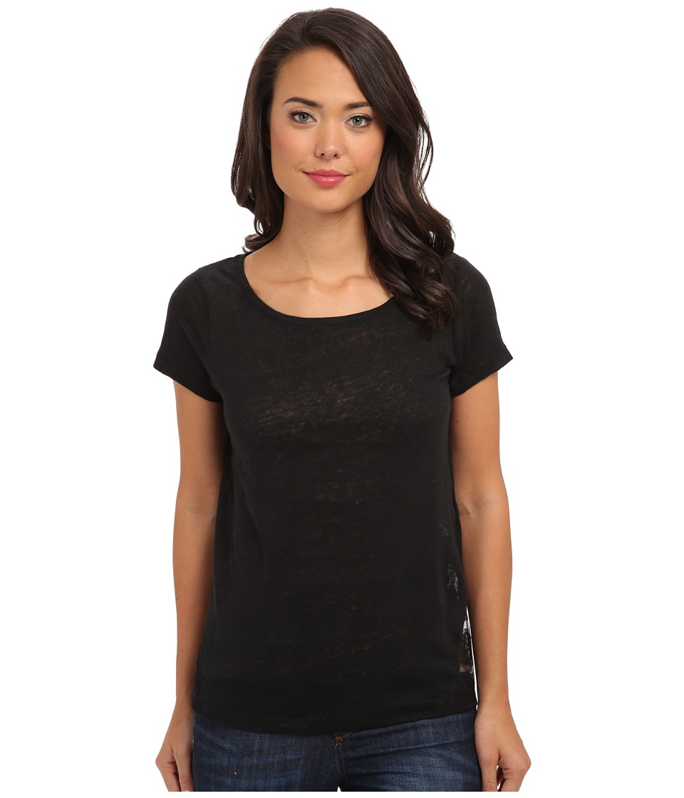 Mavi Jeans - Lace Detailed Top (Black) Women's Short Sleeve Pullover