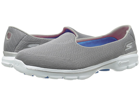 SKECHERS Performance - Go Walk 3 - Insight (Gray) Women's Flat Shoes