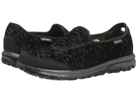 SKECHERS Performance - Go Walk - Upstage (Black) Women's Flat Shoes