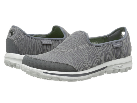 SKECHERS Performance - Go Walk - Upstage (Charcoal) Women's Flat Shoes