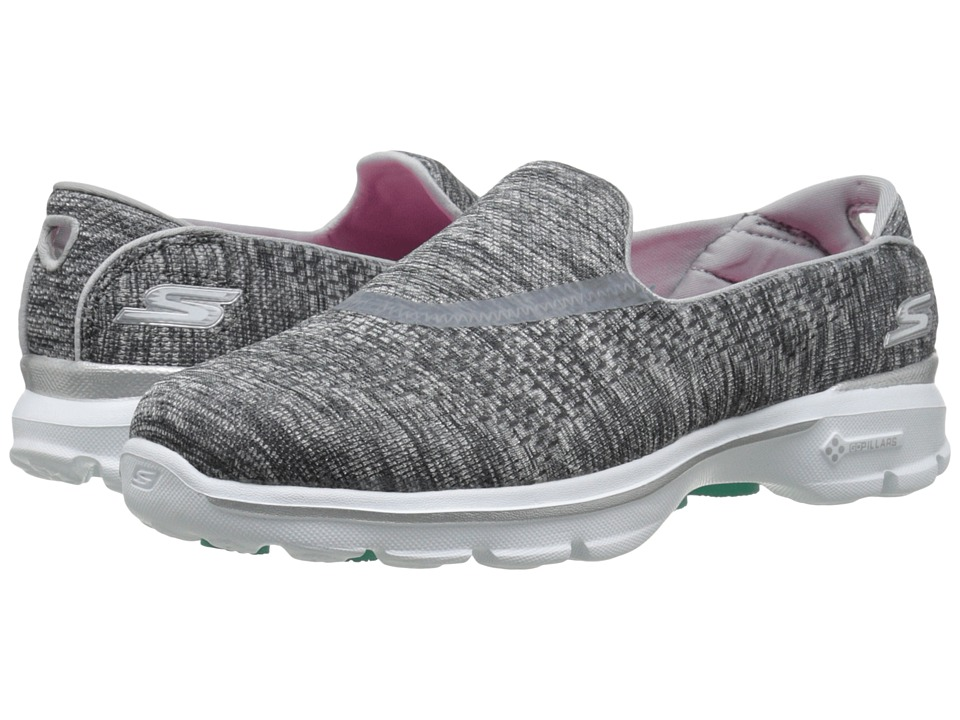 SKECHERS Performance - Go Walk 3 - Renew (Gray) Women's Flat Shoes