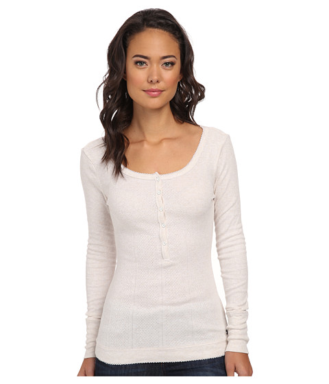 Roxy - Houston Henley Knit Top (Geo Pointelle Sea Spray Patter) Women