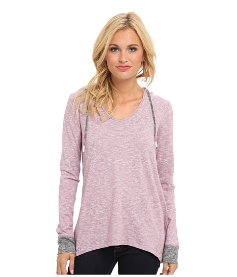 Roxy - Pismo L/S Knit Top (Argyle Purple Marl Pattern) Women