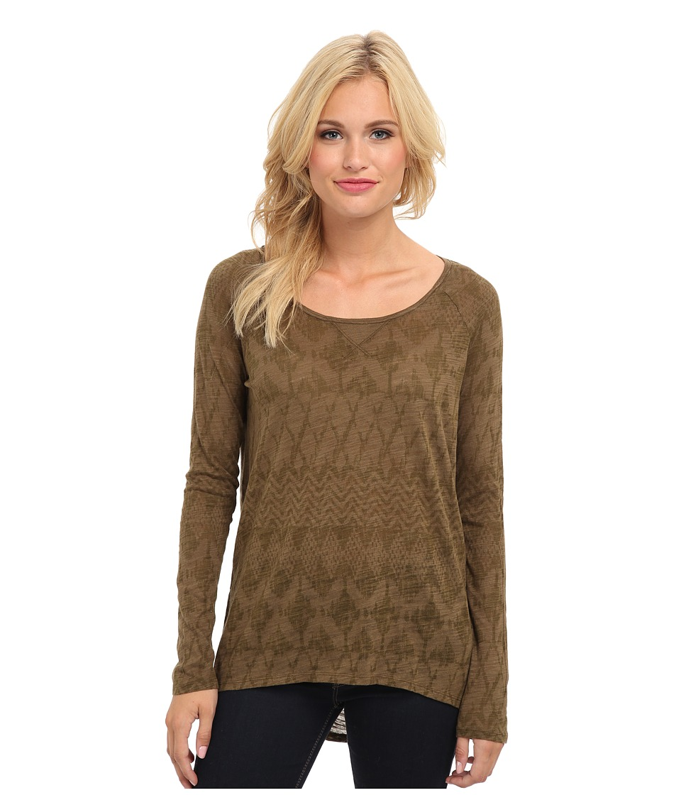 Roxy - L/S Knit Top (Bengal Military Olive Stripe) Women's Long Sleeve Pullover