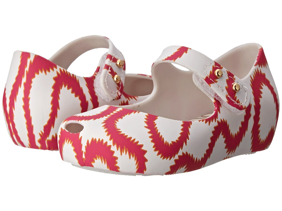 Vivienne Westwood - Anglomania + Melissa Ultra Girl VI (Toddler) (White/Pink) Women's Flat Shoes