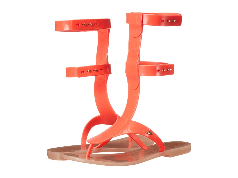 Vivienne Westwood - Anglomania + Melissa Gladiator (Orange/Red) Women's Dress Sandals