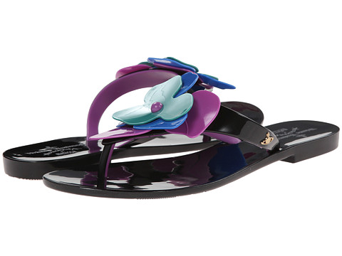 Vivienne Westwood - Anglomania + Melissa Color Sandal (Black/Lilac) Women's Dress Sandals
