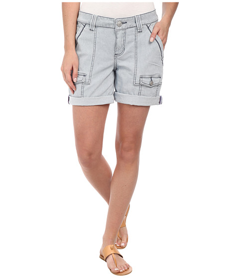 Jag Jeans - Elsa Relaxed Fit Engineer Stripe Short in Bleached Indigo (Engineer Stripe Bleached Indigo) Women