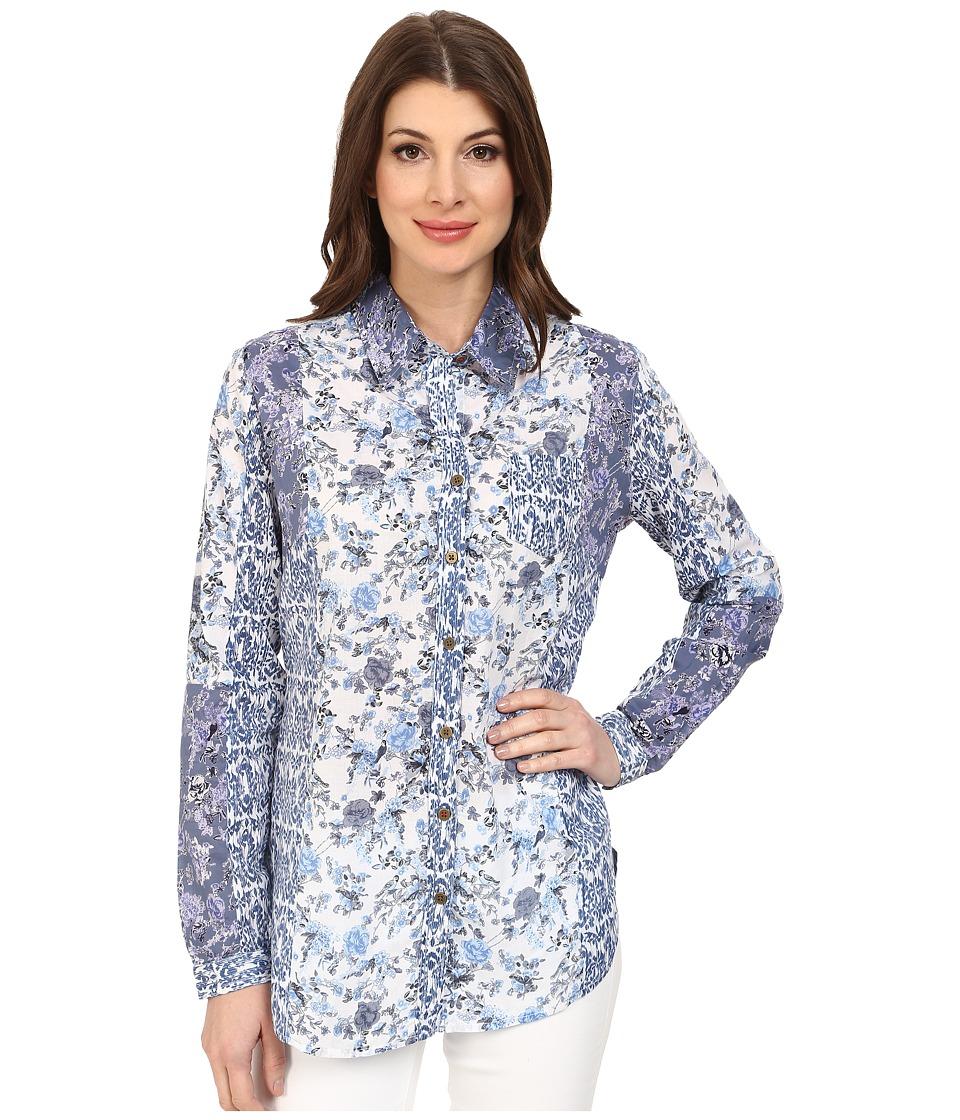 Jag Jeans - Color Blocked Terri Classic Fit Terri Shirt (Blue Multi) Women's Long Sleeve Button Up