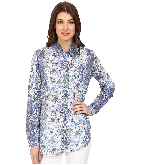 Jag Jeans - Color Blocked Terri Classic Fit Terri Shirt (Blue Multi) Women's Long Sleeve Button Up