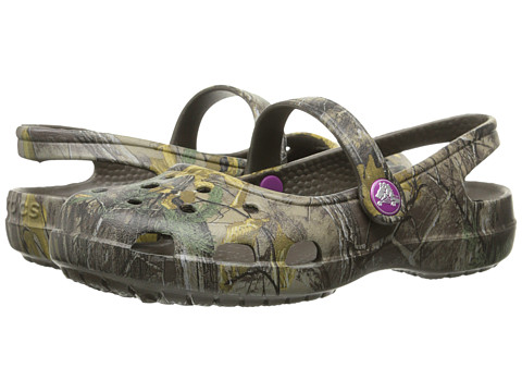 Crocs - Shayna Realtree Xtra Mary Jane (Chocolate/Fuchsia) Women's Maryjane Shoes