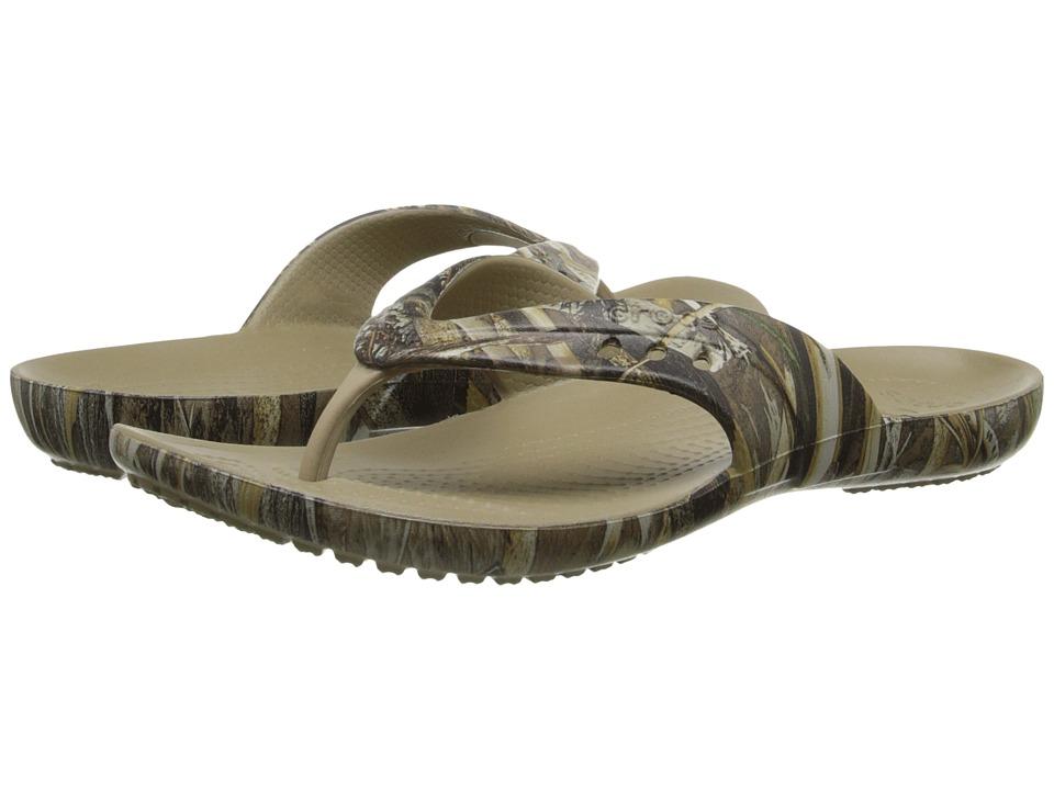 Crocs - Kadee Flip Realtree Max-5 (Khaki) Women's Toe Open Shoes
