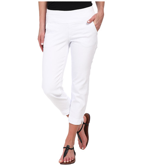 Jag Jeans - Hope Pull-On Slim Fit Crop Denim in White (White) Women