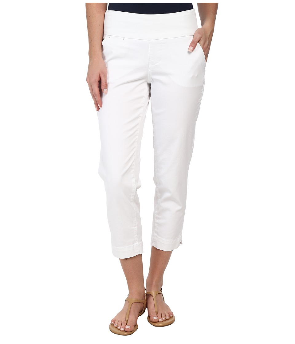 Jag Jeans - Hope Bay Twill Slim Fit Crop (White) Women's Casual Pants