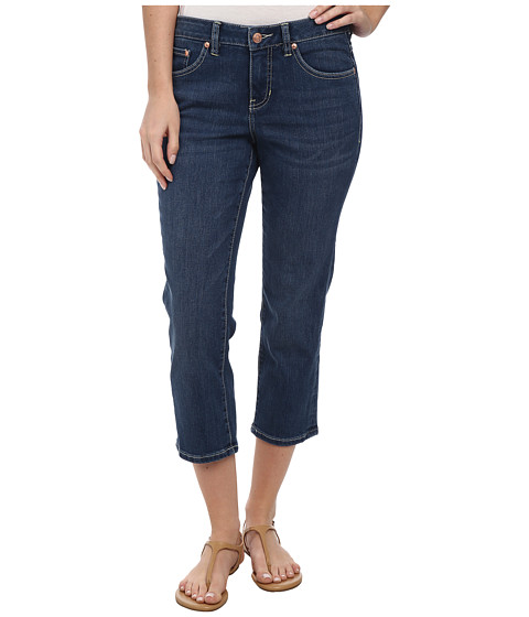 Jag Jeans - Mesa Retro Fit Denim Crop in Indigo Aged (Indigo Aged) Women