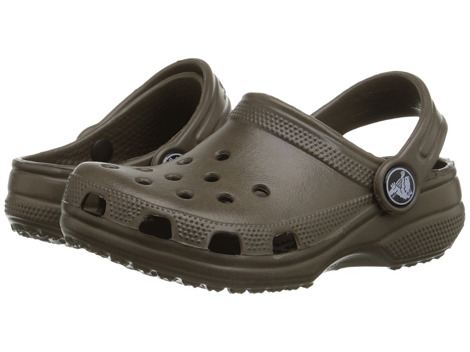 Crocs Kids - Classic (Infant/Toddler/Youth) (Chocolate) Kids Shoes