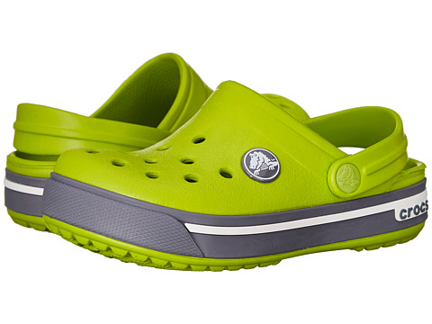 Crocs Kids - Crocband II.5 Clog (Toddler/Little Kid) (Volt Green/Charcoal) Kids Shoes