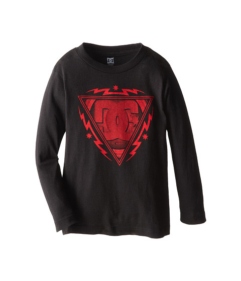 DC Kids - Zapping L/S Tee (Little Kids) (Black) Boy's T Shirt