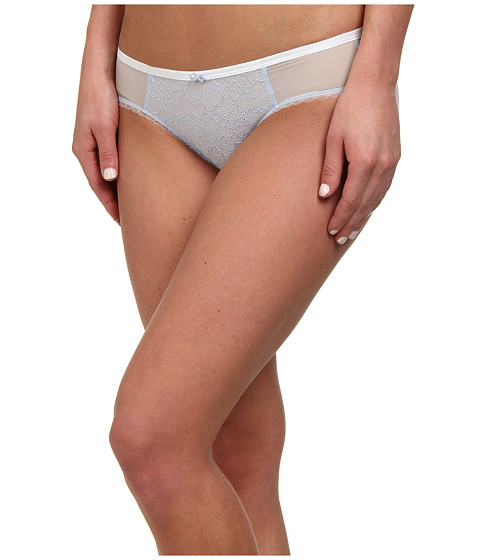 DKNY Intimates - Super Sleeks Bikini (White/Oxford Blue) Women
