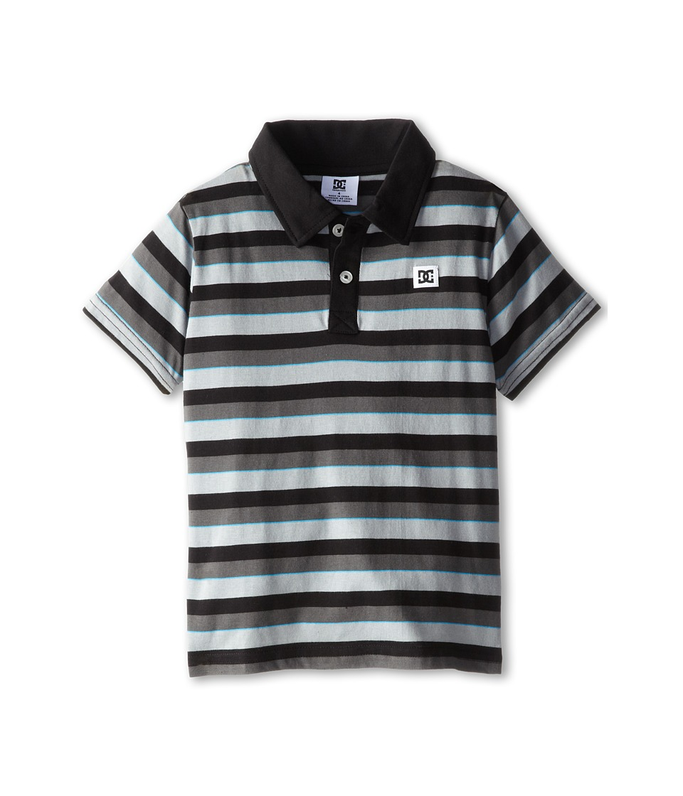 DC Kids - Landed Polo (Little Kids) (Dark Shadow) Boy's Short Sleeve Knit