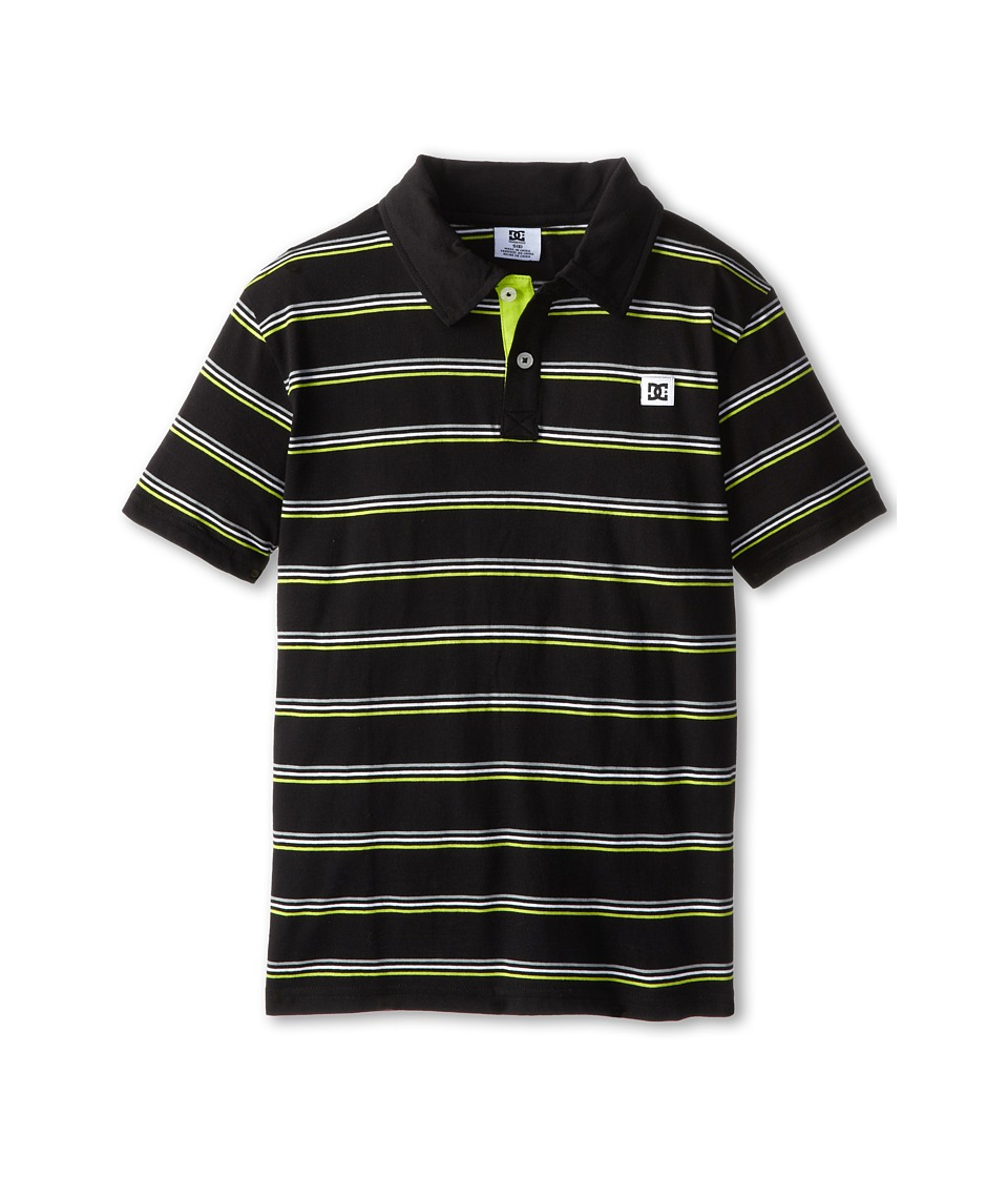 DC Kids - Rotation Polo (Little Kids) (Black) Boy's Short Sleeve Knit