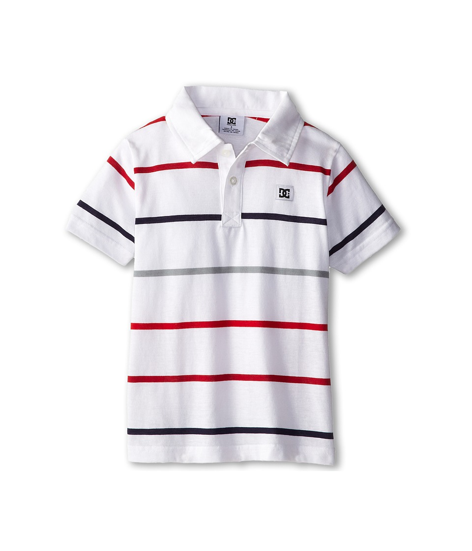 DC Kids - Weld Polo (Little Kids) (White) Boy's Short Sleeve Pullover
