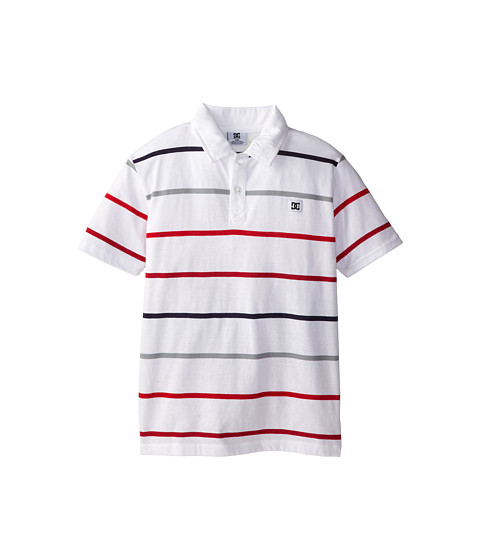 DC Kids - Weld Polo (Big Kids) (White) Boy