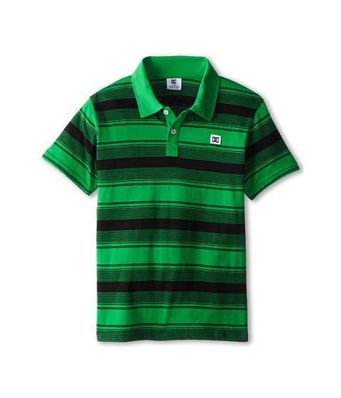 DC Kids - Lineart Polo (Big Kids) (Fern Green) Boy's Short Sleeve Knit
