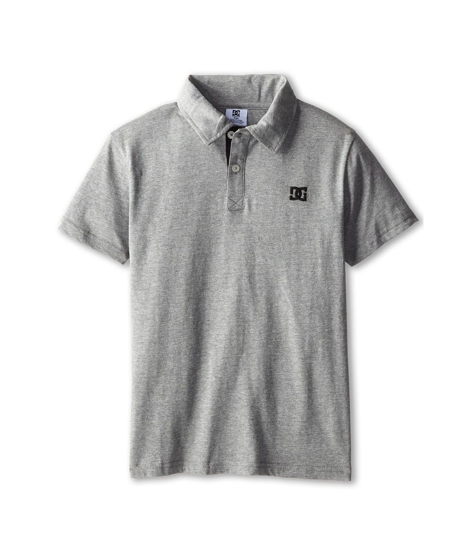 DC Kids - Straight Core Polo (Big Kids) (Grey Heather) Boy's Short Sleeve Knit