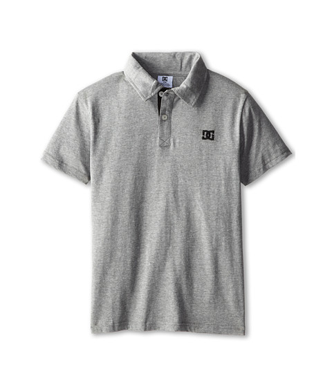 DC Kids - Straight Core Polo (Big Kids) (Grey Heather) Boy