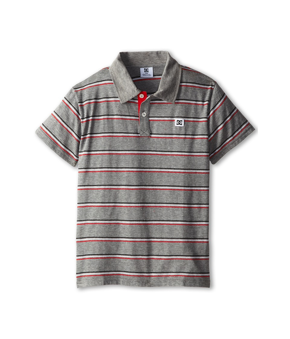 DC Kids - Rotation Polo (Big Kids) (Grey Heather) Boy