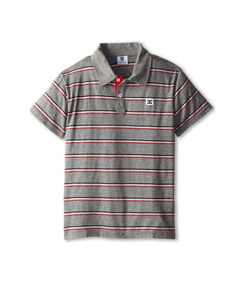 DC Kids - Rotation Polo (Big Kids) (Grey Heather) Boy's Short Sleeve Knit