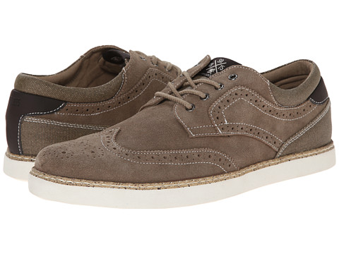 Stacy Adams - Taz (Stone Suede) Men's Lace Up Wing Tip Shoes