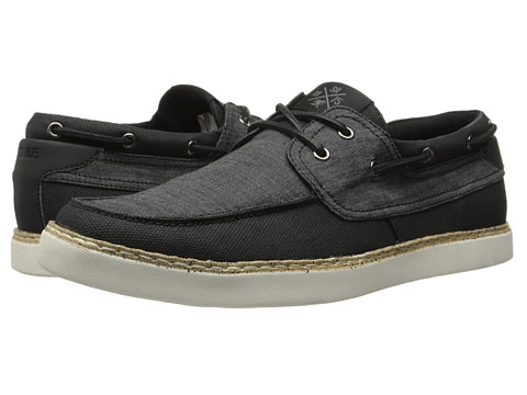 Stacy Adams - Tailwind (Black Denim/Canvas) Men's Slip on Shoes