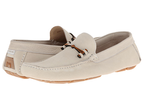 a. testoni - Unlined Sport Suede Driver w/ Bit (White) Men's Slip on Shoes