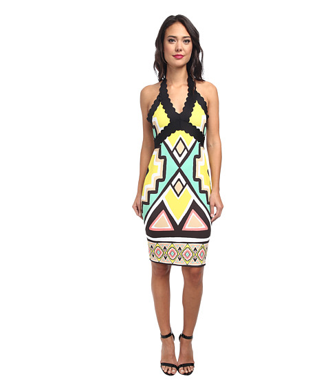 Hale Bob - Global Glamor Neoprene Halter Dress (Mint) Women's Dress