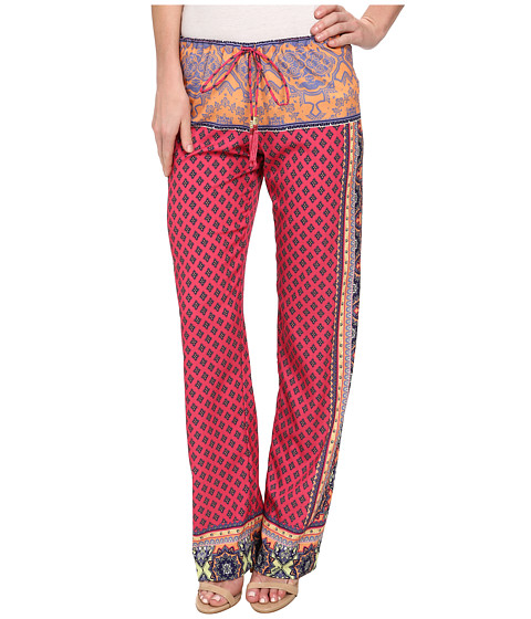 Hale Bob - Global Centric Printed Pant (Coral) Women's Casual Pants