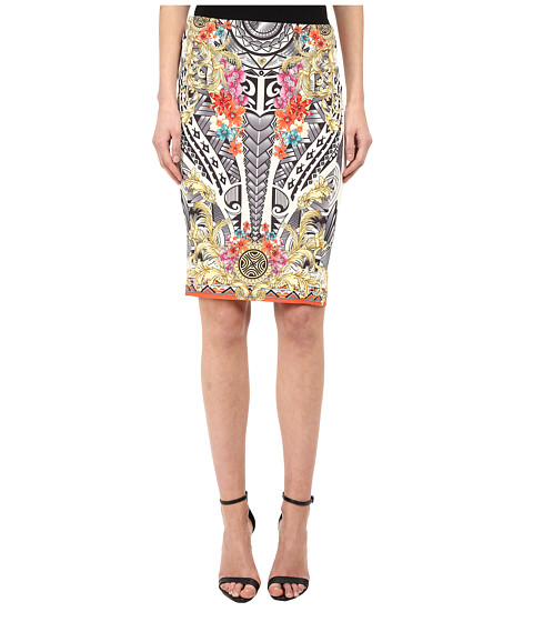 Versace Collection - Printed Pencil Skirt (Bianco Print) Women's Skirt