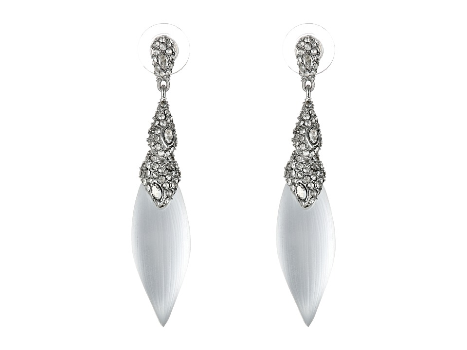 Alexis Bittar - Encrusted Articulating Post Earrings (Silver) Earring