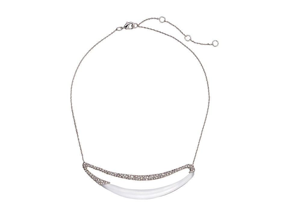 Alexis Bittar - Encrusted Elongated Link (Silver) Necklace