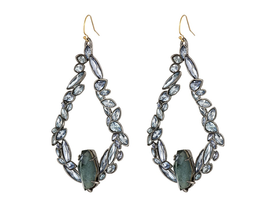 Alexis Bittar - Irregular Tear w/ Fancy Blue Sapphire Crystal Pyrite Doublets Earrings (Fancy Blue Indigo Ice) Earring