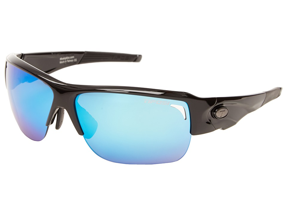 Tifosi Optics - Elder Interchangeable (Gloss Black) Athletic Performance Sport Sunglasses