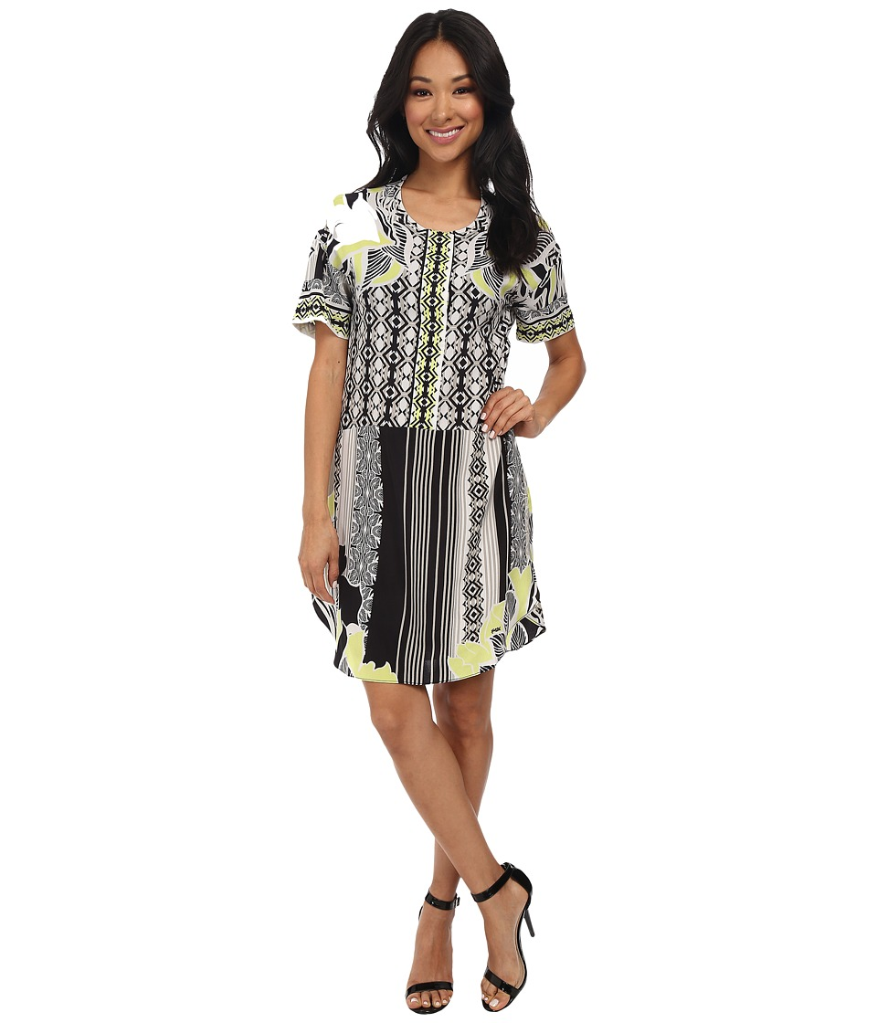 Hale Bob - Downtown Floral Shift Dress (Lime) Women's Dress