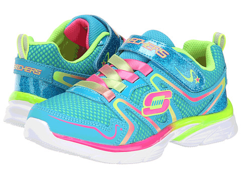 SKECHERS KIDS - Jump Upz-Flyin' High 81116L (Little Kid/Big Kid) (Blue/Multi) Girl's Shoes