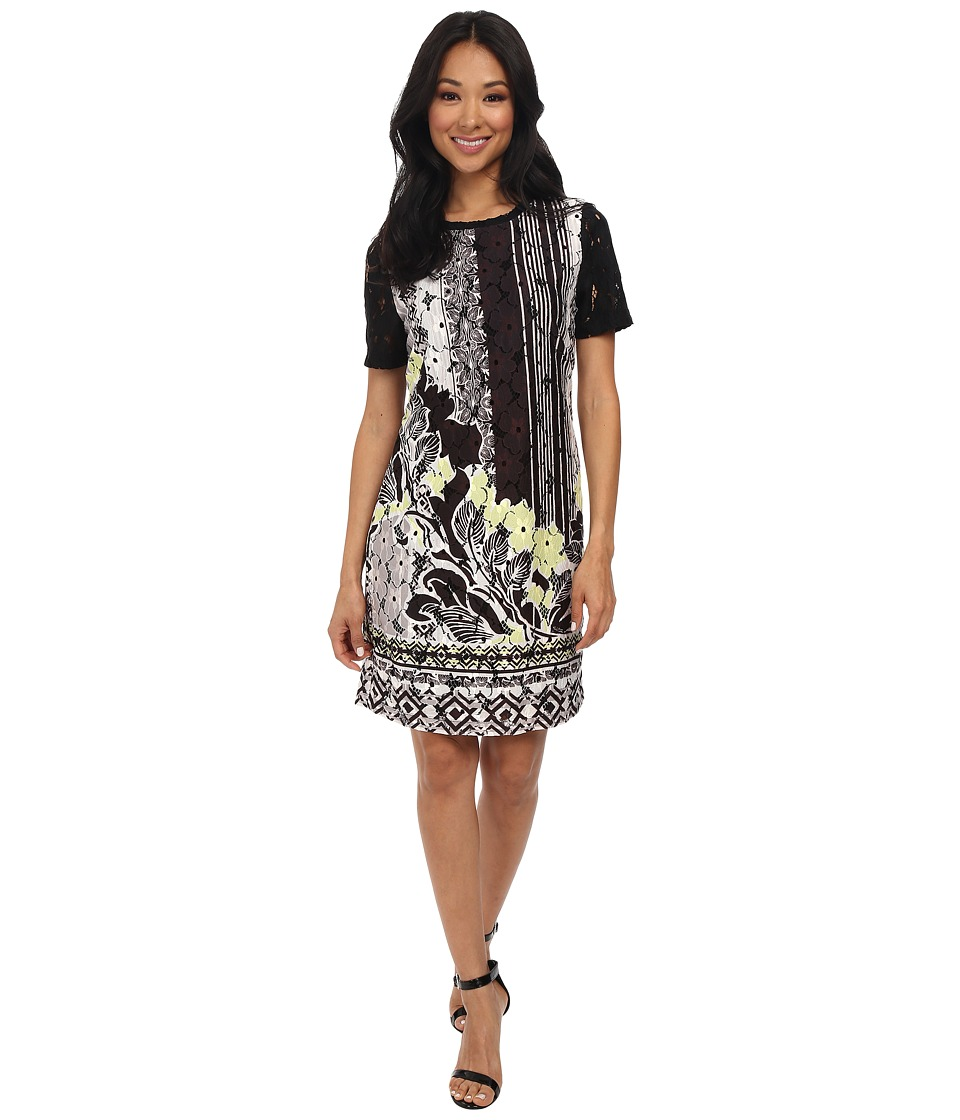 Hale Bob - Downtown Floral Lace Printed Dress (Lime) Women's Dress